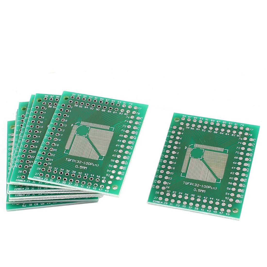 PCB Adapter Plate for TQFP32-100 Pin 0.5mm to TQFP32-64 Pin 0.8mm Board