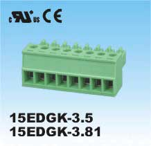 Plug-in Terminal Block 3p P3.5MM  R/A