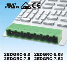 Plug-in Terminal Block 3p P5.08MM  R/A