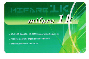 Contactless Smart Cards MIFARE 1K